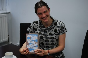 sarah with first copy